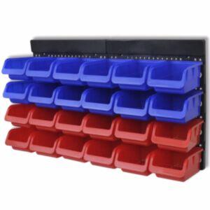 2 tk sinine ja punane seinale kinnitatav tööriistade organiseerija