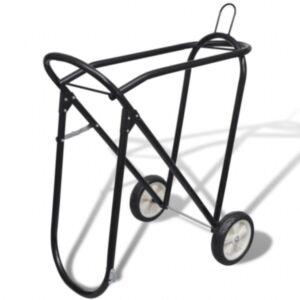 Metallist kokkupandav sadula raam ratastega