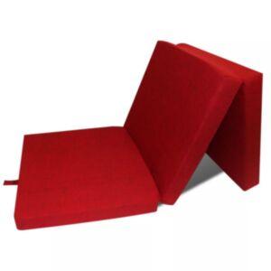 Pood24i kokkupandav vahtmadrats 190 x 70 x 9 cm, punane