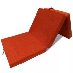 Pood24i kokkupandav vahtmadrats 190 x 70 x 9 cm, oranž
