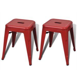 Pood24i toolid 2 tk virnastatav, metallist, punane