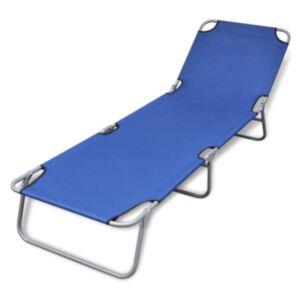 Pood24 kokkupandav lamamistool, pulberkaetud teras, sinine