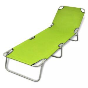 Pood24 kokkupandav lamamistool, pulberkaetud teras, roheline