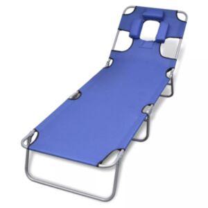 Pood24 kokkupandav lamamistool, peatugi, pulberkaetud teras, sinine