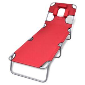 Pood24 kokkupandav lamamistool, peatugi, pulberkaetud teras, punane