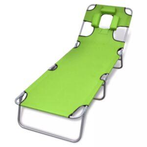 Pood24 kokkupandav lamamistool, peatugi, pulberkaetud teras, roheline
