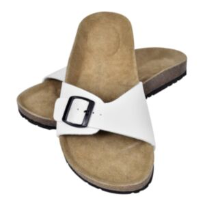 Korktallaga sandaalid 1 rihmaga mõlemale soole suurus 40 valge
