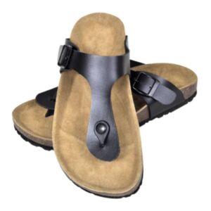 Korktallaga sandaalid unisex, suurus 36 must