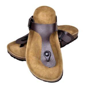 Korktallaga sandaalid unisex, suurus 39 pruun