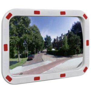 Kumer liikluspeegel ristkülikukujuline 40 x 60 cm helkuritega
