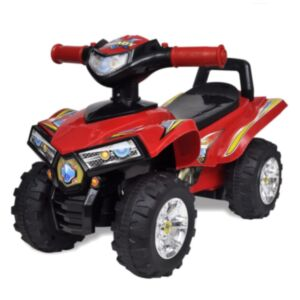 Punane laste neljarattaline sõiduk