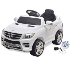 Lasteauto Mercedes Benz ML350 puldiga, valge