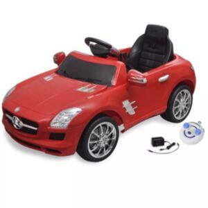 Elekriline lasteauto Mercedes Benz SLS AMG puldiga, punane