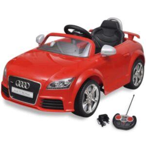 Punane Audi TT RS pealeistutav auto lastele puldiga