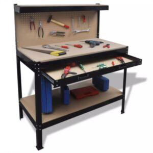 Tööpink sahtli ja tööriistahoidjatega