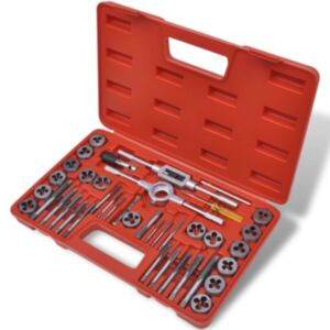 40-osaline keermetööriistade komplekt