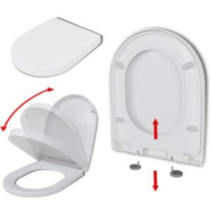 Pood24 vaikselt sulguv prill-laud, valge, kandiline
