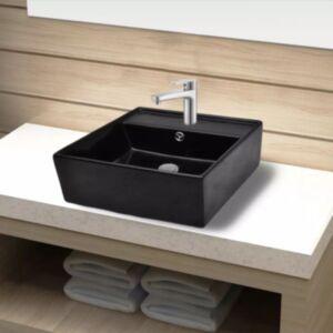 Must kandiline keraamiline kraanikauss vannituppa