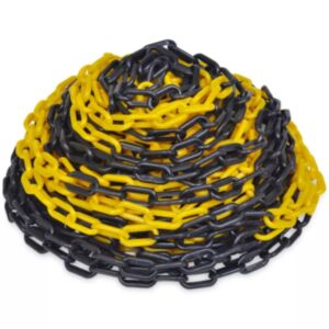 30 m plastist hoiatuskett kollane ja must
