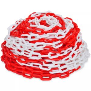 30 m punane ja valge plastist hoiatuskett