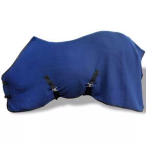 Fliistekk hobustele, rihmadega 135 cm sinine