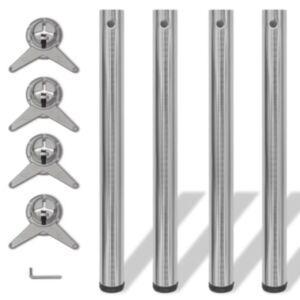 Reguleeritava kõrgusega lauajalad 4 tk, harjatud nikkel, 710 mm
