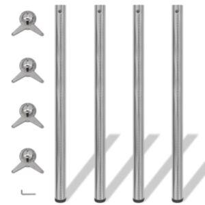 Reguleeritava kõrgusega lauajalad 4 tk, harjatud nikkel, 1100 mm