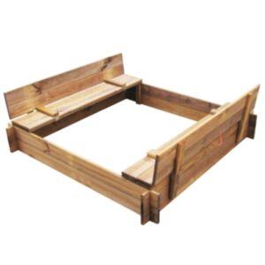 Pood24 liivakast, immutatud puidust, kandiline