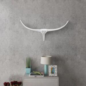 Seinale kinnitatav alumiiniumist dekoratiivne pullipea, hõbedane, 72 cm