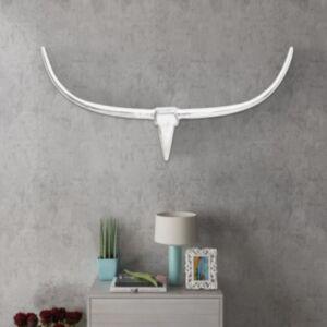 Seinale kinnitatav alumiiniumist dekoratiivne pullipea, hõbedane, 125 cm