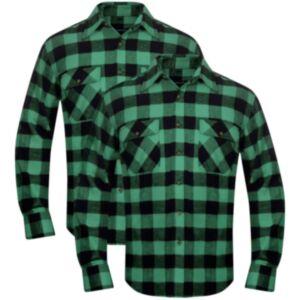 Meeste flanellsärk 2 tk XL rohelise-musta-ruuduline