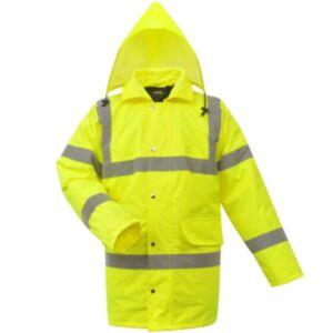 Pood24i meeste hästinähtav jakk polüester kollane L
