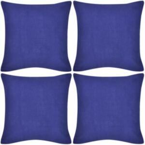 Diivanipadjakatted 4 tk 40 x 40 cm sinine