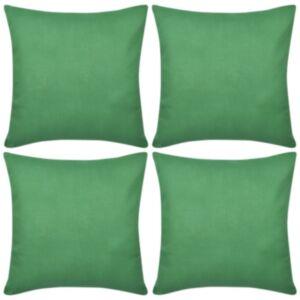 Diivanipadjakatted 4 tk 40 x 40 cm roheline