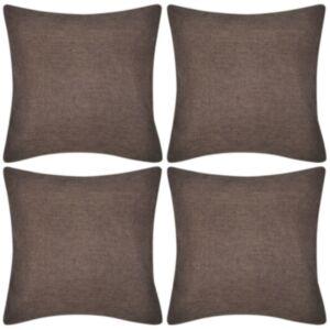 Diivanipadjakatted 4 tk 40 x 40 cm linase välimusega, pruun