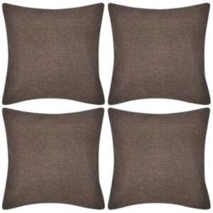Diivanipadjakatted 4 tk 50 x 50 cm linase välimusega, pruun