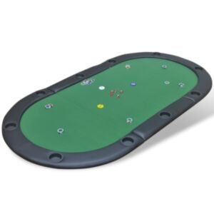 Pood24 kokkupandav pokkeri lauaplaat 10 mängijale, roheline