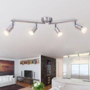 Pood24i laelamp nelja LED-tulega, satiinnikkel