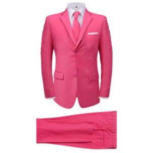 Pood24i kaheosaline meeste ülikond lipsuga, roosa, suurus 48