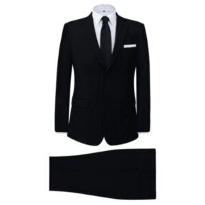 Pood24i kaheosaline meeste äriülikond, must, suurus 50