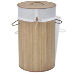 Pood24i bambusest ümmargune pesukorv, naturaalne