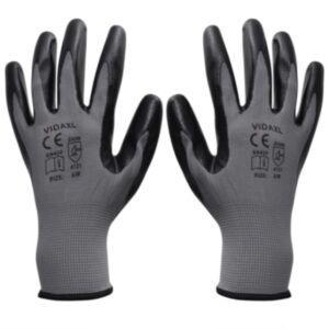 Pood24i töökindad 24 paari, hall ja must, suurus 9/L