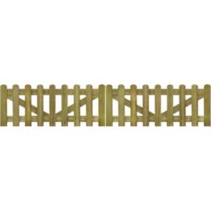 Pood24 lippaia värav 2 tk, immutatud puit 300 x 60 cm