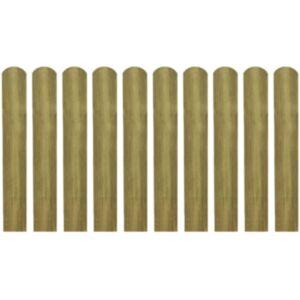 Pood24 immutatud aialipid 10 tk, puit 60 cm