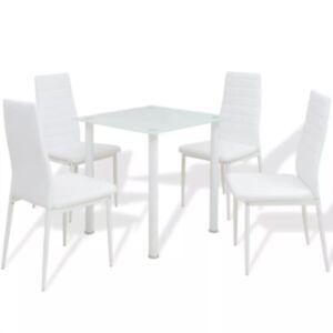 Pood24i viieosaline söögilaua ja tooli komplekt valge