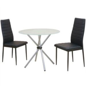 Pood24i kolmeosaline söögilaua ja toolide komplekt
