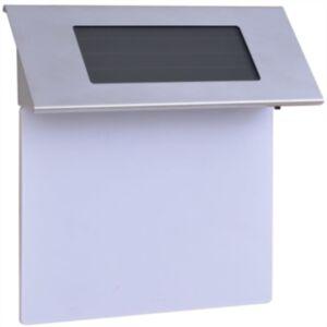 Pood24i päikesepatareiga LED majanumber roostevabast terasest