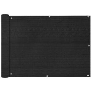 Pood24i rõdusirm HDPE, 75 x 600 cm, antratsiit