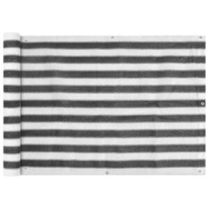 Pood24i rõdusirm HDPE, 75 x 400 cm, antratsiit ja valge
