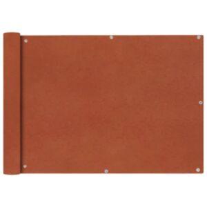 Pood24i rõdusirm oxfordkangast, 75 x 600 cm, terrakota